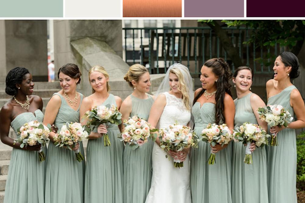 Jade Copper and Deep Plum Wedding Inspiration