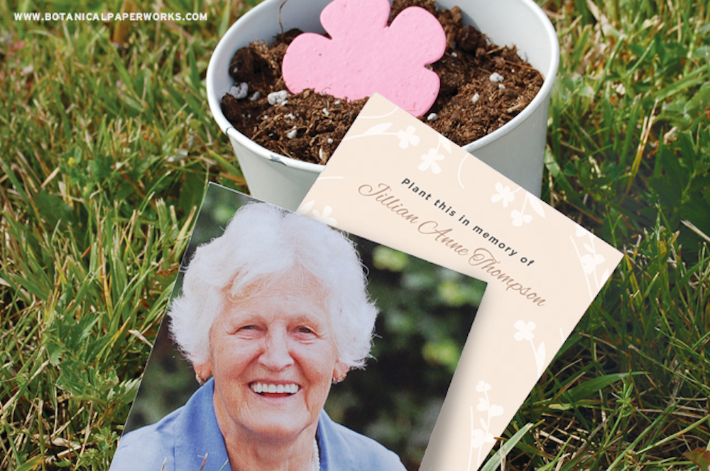 plantable seed paper favors for green burials and eco friendly celebrations of life