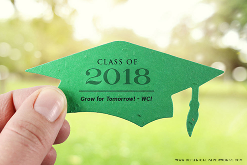 Plantable Graduation Favors that are perfect for green graduations and spread seeds as a symbol of the future and growth