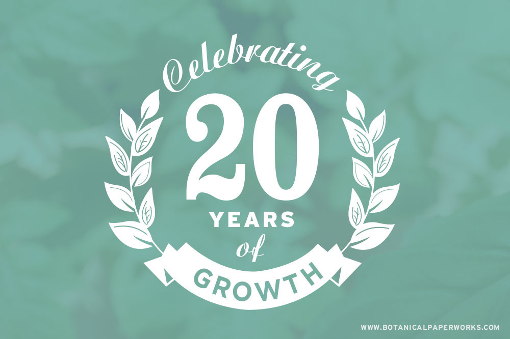 Botanical PaperWorks Celebrates 20 Years As A Seed Paper Company!