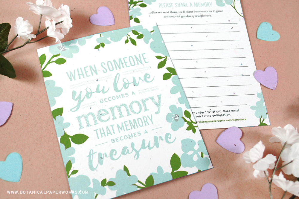Memory Garden Memorial Seed Cards