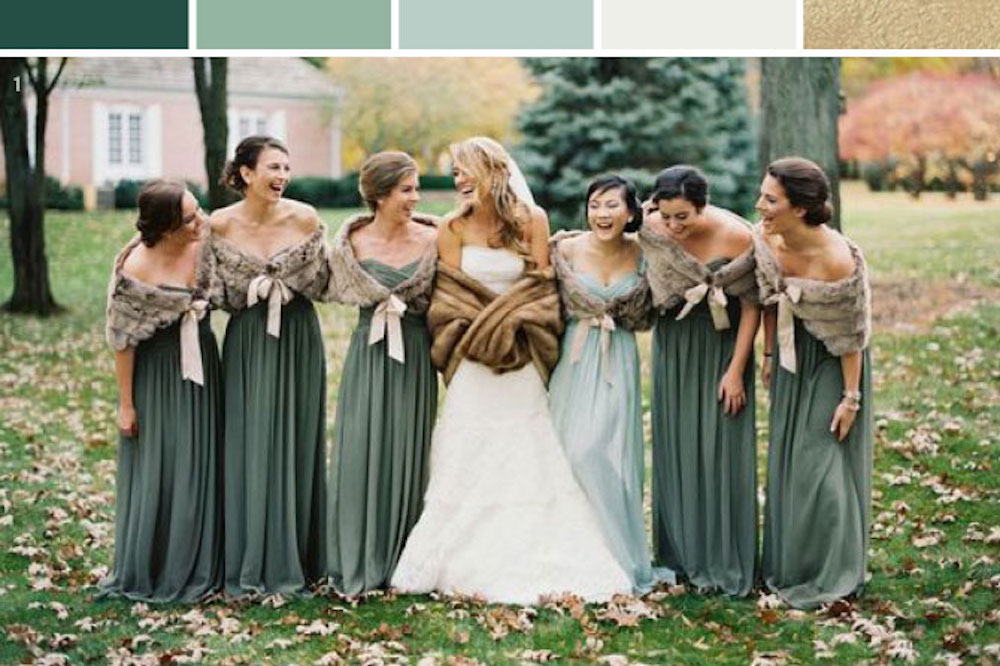 winter sage and ivory wedding inspiration palette
