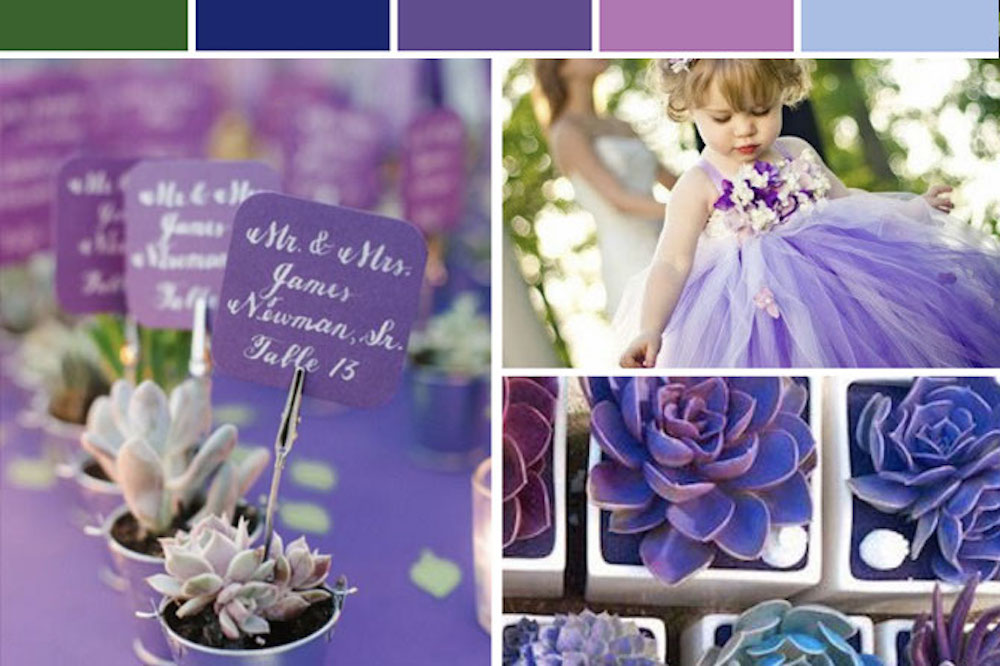 wedding inspiration board ultra violet