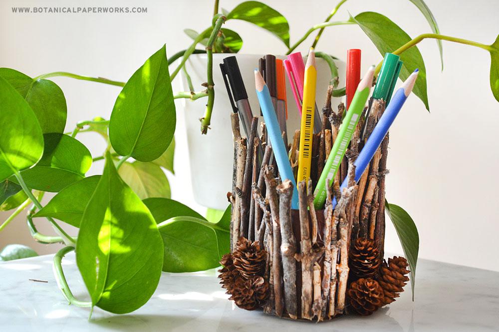 nature themed pen holders