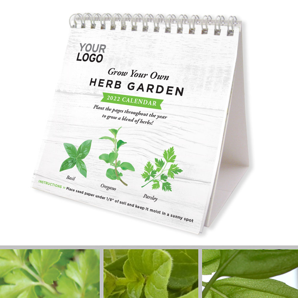 A calendar made with herb seed paper that grows.