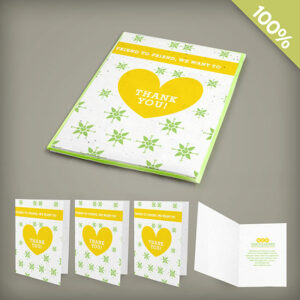 Small seed paper card gift packs