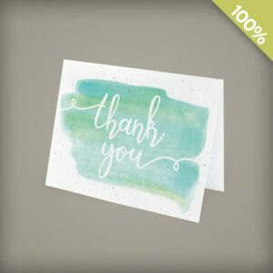 Watercolor Plantable Business Thank You Cards