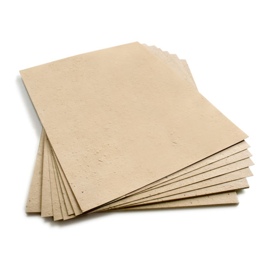 This eco-friendly 8.5 x 11 Mustard Yellow Plantable Seed Paper is embedded with wildflower seeds.
