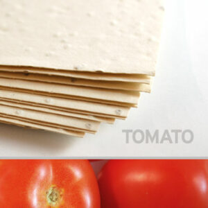 This 11 x 17 Cream Tomato Plantable Seed Paper is made from 100% eco-friendly materials.