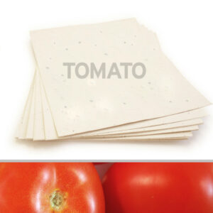 Plant this 8.5 x 11 Cream Tomato Plantable Seed Paper to grow bright, plump tomatoes.