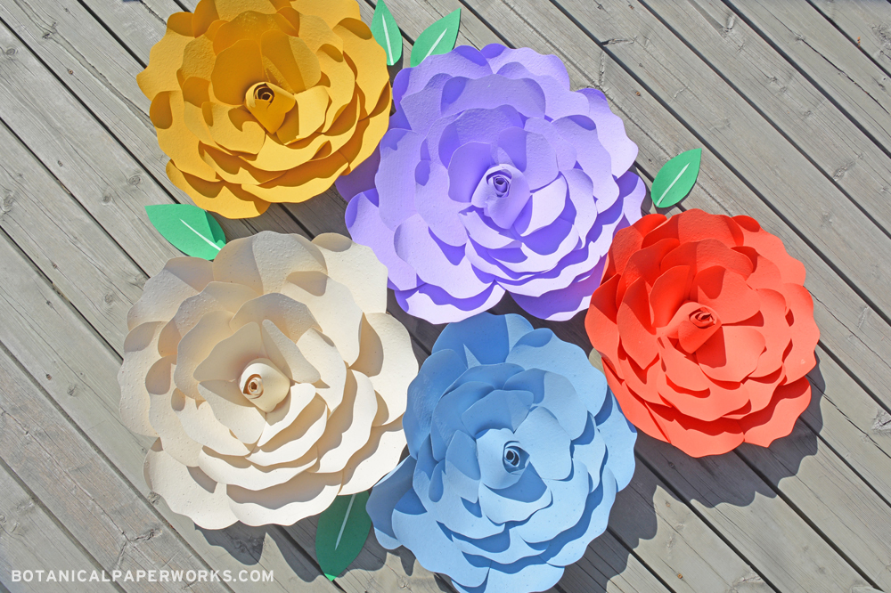 Eco-friendly Giant Seed Paper Flowers