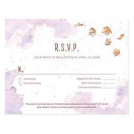 Seed Paper RSVP Cards