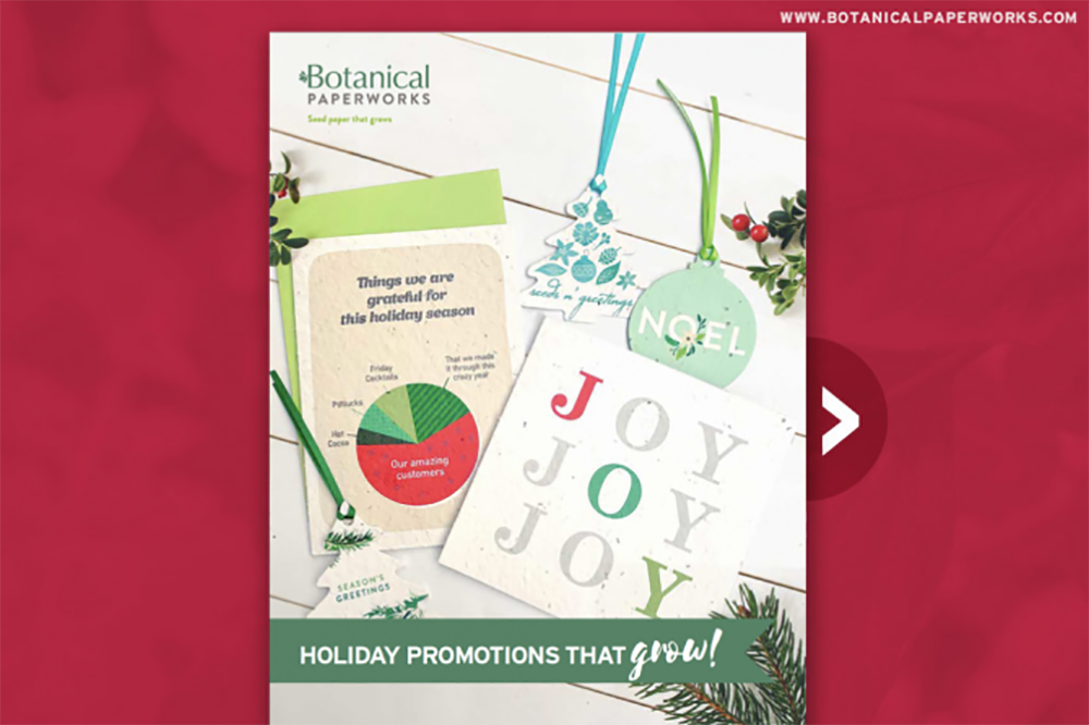 Botanical PaperWorks Holiday Promotions Idea Book Color