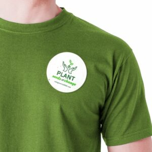 Get your message out there in an eco-friendly way with these button badges that are made with seed paper.