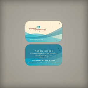 You'll make a great first impression with these Abstract Curves Seed Paper Business Cards that grow!
