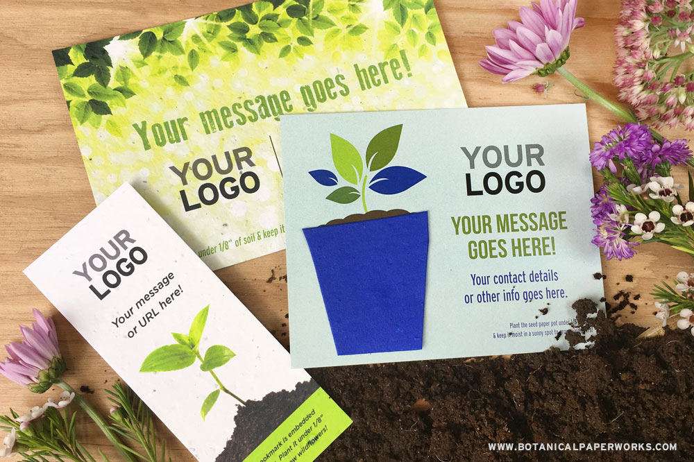add your own logo to seed paper promotional products