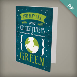 These seed paper corporate holiday cards are the perfect way to wish clients and colleagues a GREEN Christmas.