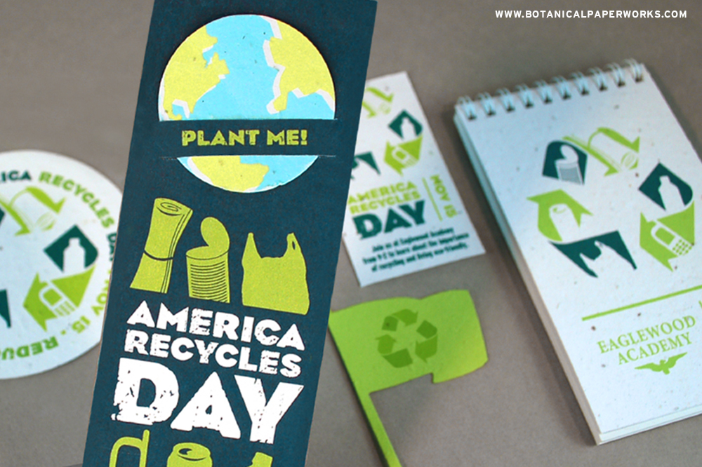 America Recycle Day Seed Paper Promotional Products