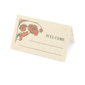 These eco-friendly Art Nouveau Plantable Place Cards are perfect for vintage weddings with eclectic details.