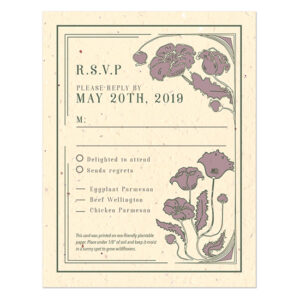 Each of these Art Nouveau Plantable Reply Cards is adorned with a beautiful and intricate design but also has seeds within the paper itself.