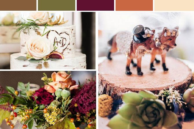 autumn woodland wedding inspiration board