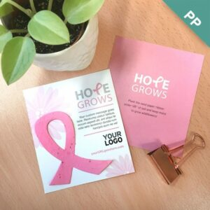 plantable awareness ribbon flat cards