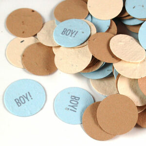 This eco-friendly Baby Boy Plantable Eco Confetti is a fun way to celebrate a new baby boy.