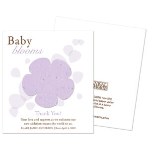 Everyone will love these Classic Baby Blooms Plantable Baby Shower Favors that they can plant to grow REAL wildflowers in celebration.