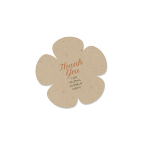 These eco-friendly Plantable Flower Baby Shower Favors will show your gratitude and won't leave any waste behind.