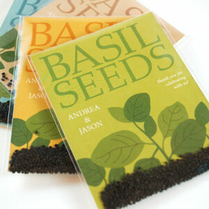 Grow fresh and fragrant basil with these Grow Together Basil Seed Packet Wedding Favors.