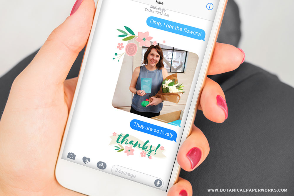 Beautiful Blooms FREE iMessage Stickers