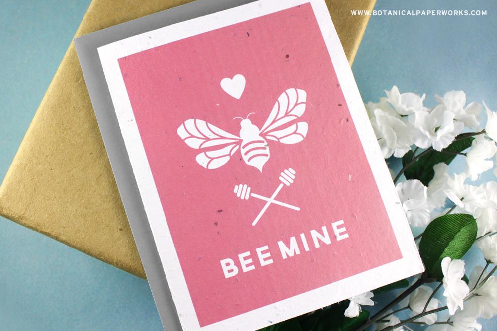 Bee Mine Seed Paper Valentines