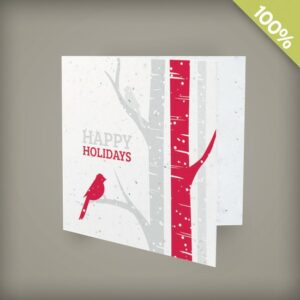 Birch Trees Square Business Holiday Cards