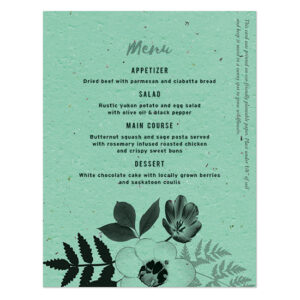 These colorful Black & White Blooms Plantable Menu Cards will add flowers to your place settings in an unexpected way.