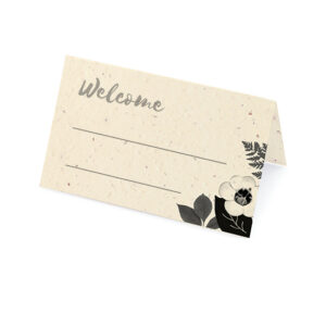 These unique Black & White Blooms Plantable Place Cards will wow your guests and give them a little something to take home and plant after in celebration.