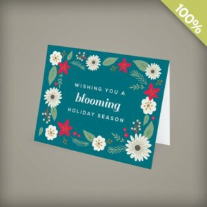 Wish them a blooming holiday season with these festive cards that are packed with seeds and grow real flowers.