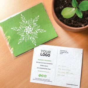 Blooming Snowflake Plantable Holiday Postcards