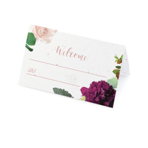 Guests will love these Beautiful Blooms Plantable Place Cards that will not only show them to their seat, but also give them the gift of flowers to plant and grow!