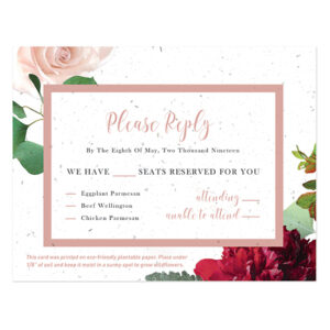 When you receive these Beautiful Blooms Plantable Reply Cards back in the mail, you can plant them in soil to grow a garden of wildflowers