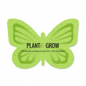 Customize the text of the plantable party favors for your next event.