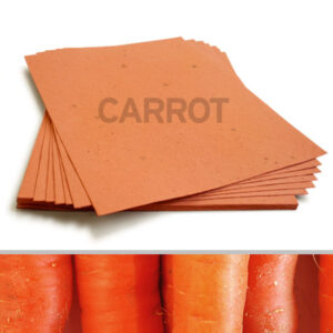 This 8.5 x 11 Burnt Orange Carrot Plantable Seed Paper can be planted to grow a crunchy bundle of carrots.
