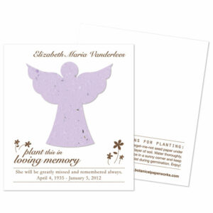 Angel seed memorial funeral cards