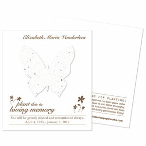 Butterfly seed memorial cards