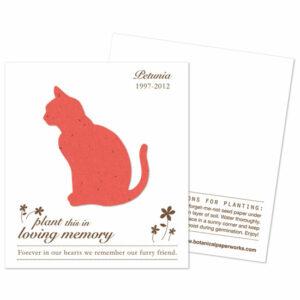 Plantable cat memorial cards