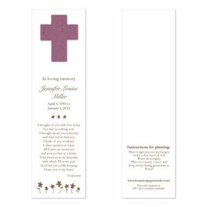 cross memorial bookmarks