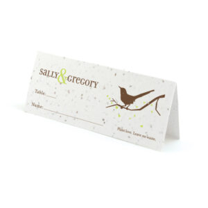 Song plantable place cards