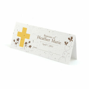 Baptism plantable place cards