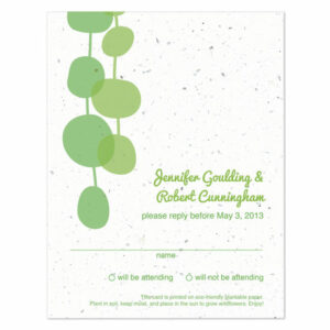retro lanterns plantable reply cards