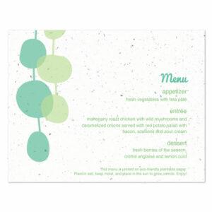 Retro Lanterns plantable menu cards