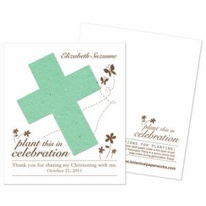 Plantable seed cross favor
